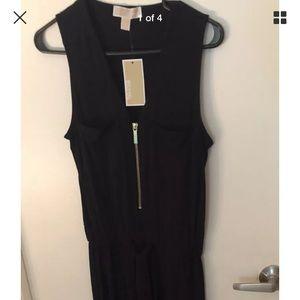 Michael Kors Straight leg jumpsuit XS NWT Black